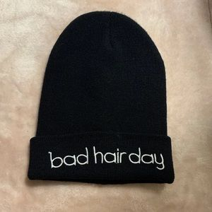 Black Bad Hair Day Beanie